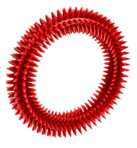 Игрушка для собак Кольцо массажное с шипами 16 см V.I.Pet (1 шт)