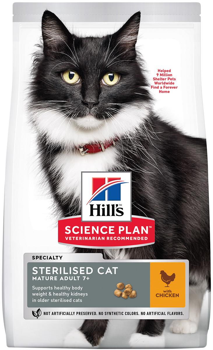 Hill's Science Plan Feline Mature Adult 7+ Sterilised Cat для пожилых кастрированных котов и стерилизованных кошек старше 7 лет (0,3 кг) фото