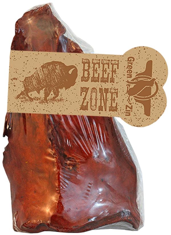 Лакомство Green Qzin Beef Zone для собак всех пород ухо говяжье сушеное золотистое (1 шт)