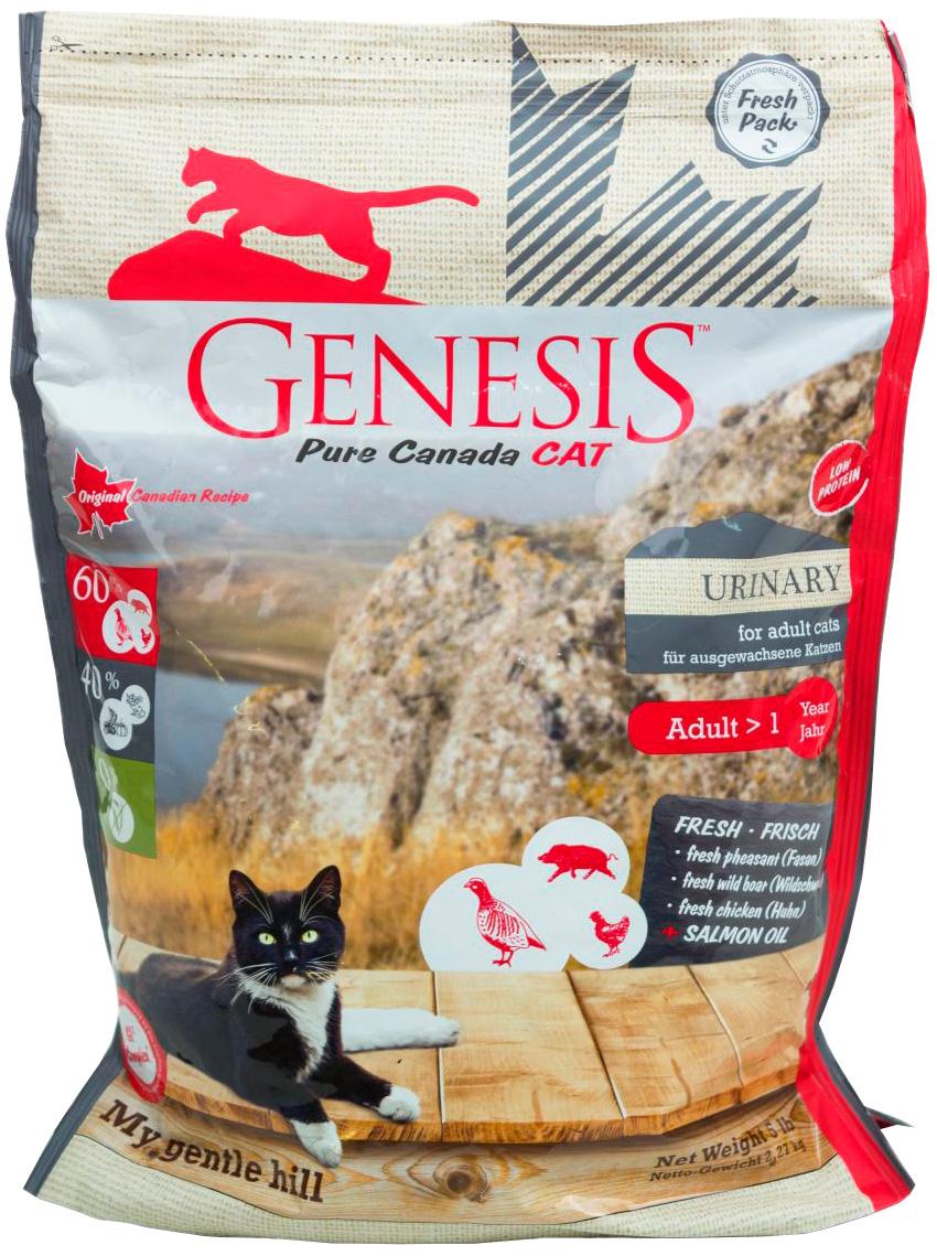 Genesis Pure Canada My Gentle Hill Urinary беззерновой для взрослых кошек при мочекаменной болезни с фазаном, кабаном и курицей (0,34 кг)