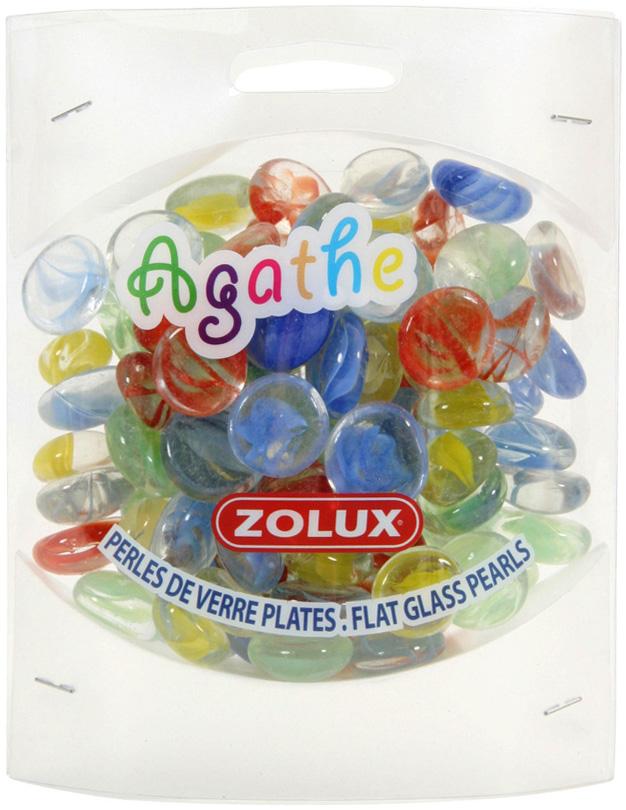 Декор для аквариума Zolux Агат стеклянный L мульти цвет 430 гр (1 уп).