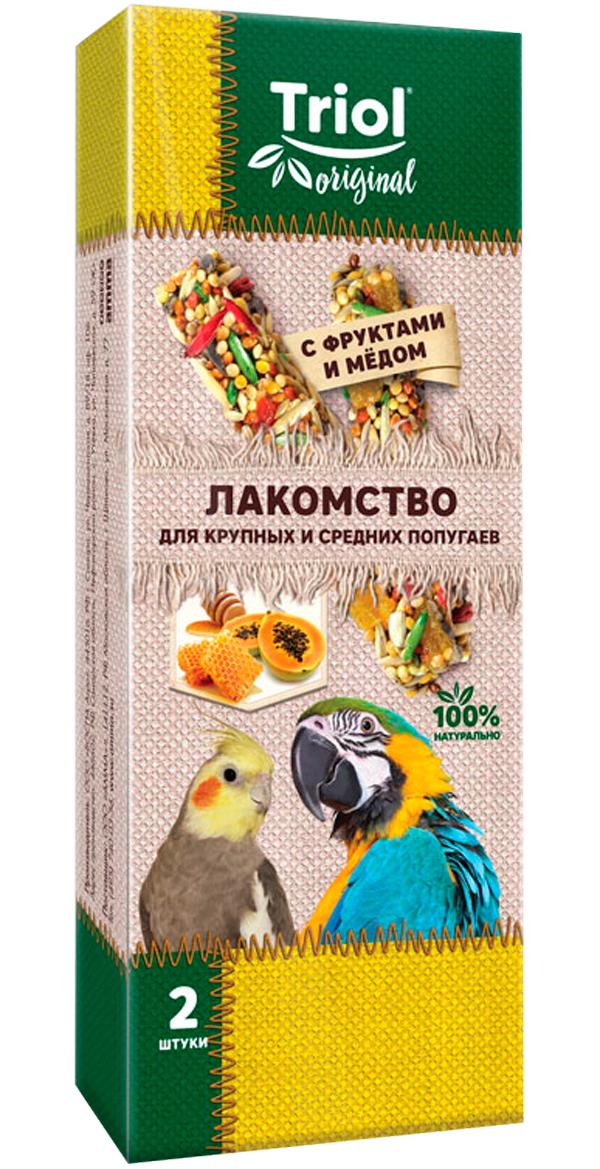 Triol Original лакомство для средних попугаев с фруктами и медом (2 шт)