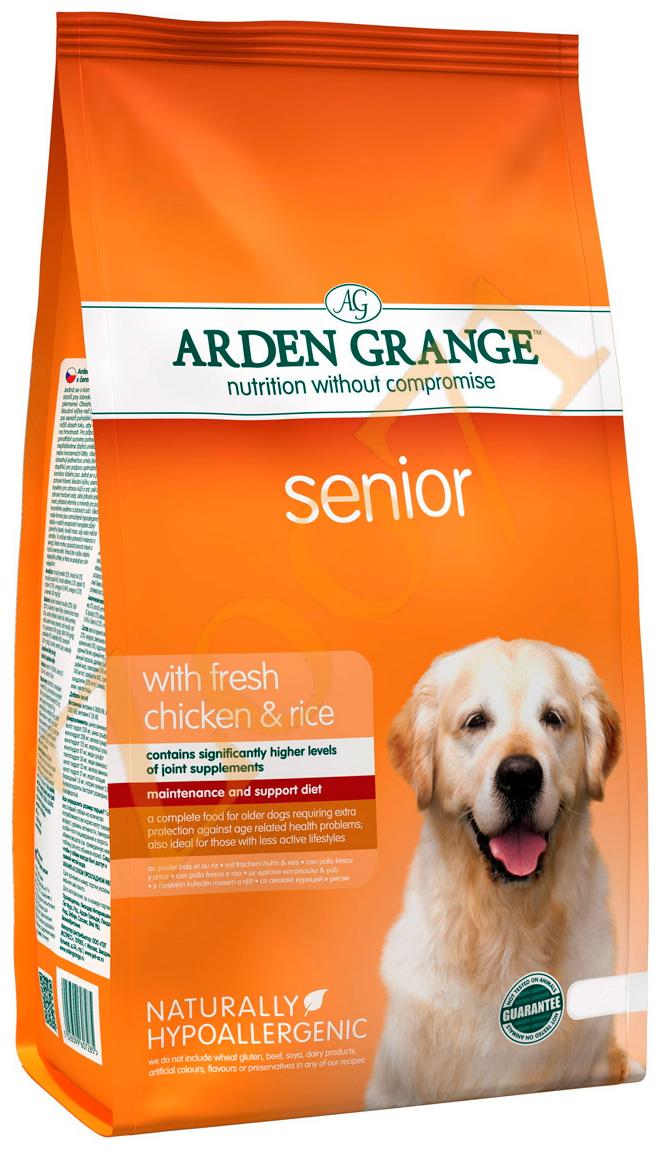 Arden Grange Senior для пожилых собак всех пород с курицей и рисом (6 кг).