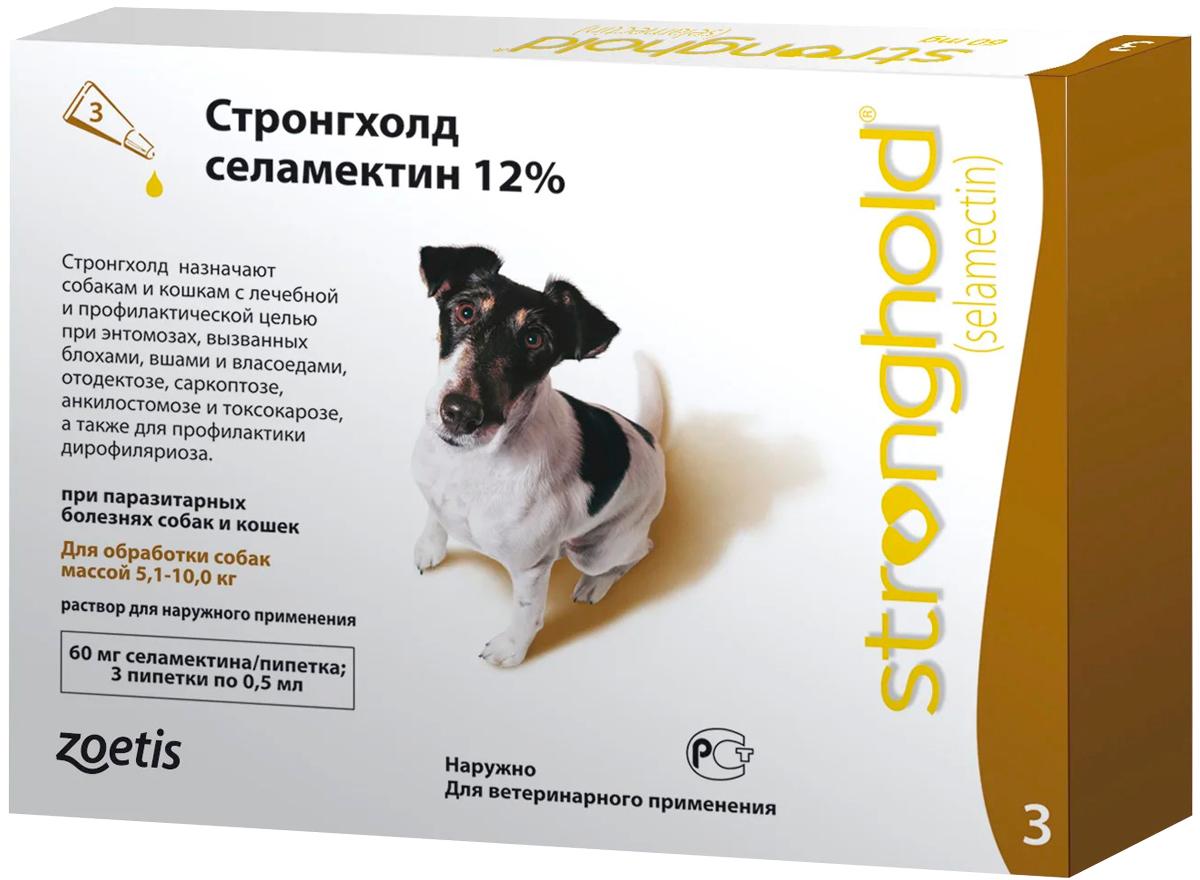 стронгхолд капли для собак весом от