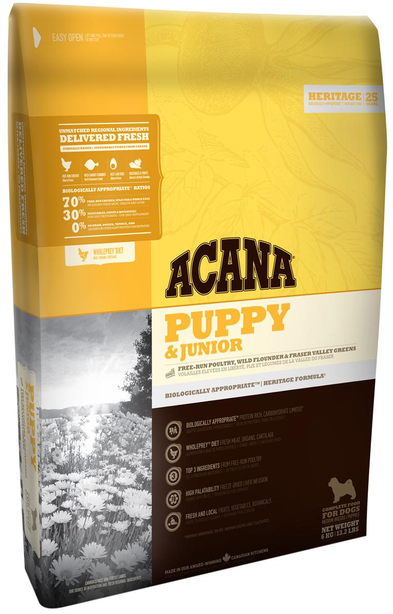 Acana Puppy & Junior для щенков всех пород (6 + 6 кг)