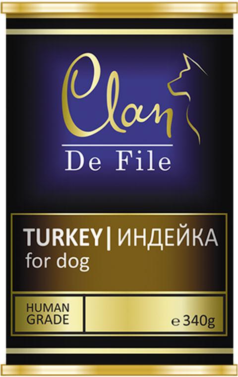 Clan De File монобелковые для взрослых собак с индейкой (100 гр х 16 шт) clan консервы clan de file для кошек с индейкой 100 г 16 шт
