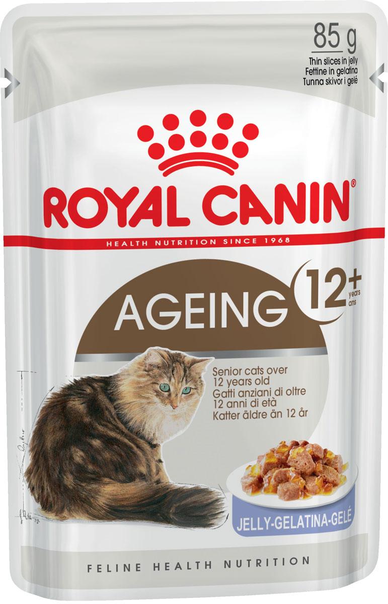 Royal Canin Ageing 12+ для пожилых кошек старше 12 лет в желе 85 гр (85 гр)