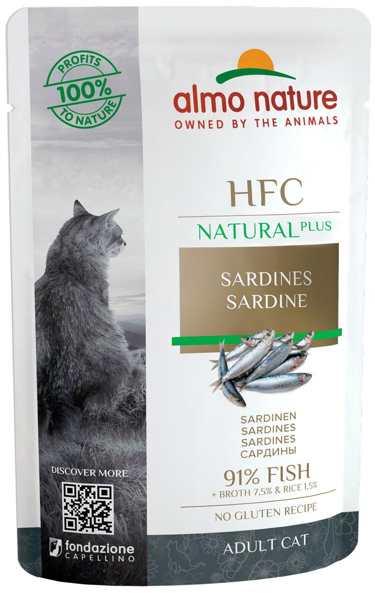 Almo Nature Cat Alternative для взрослых кошек с сардинами  (55 гр х 24 шт).