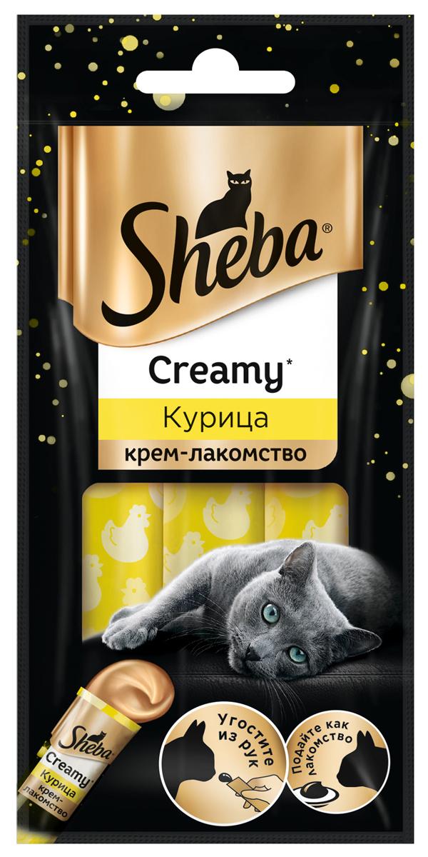 Sheba Creamy для кошек крем-лакомство с курицей 3 шт (1 уп) sheba creamy для кошек крем лакомство с курицей 3 шт 1 уп