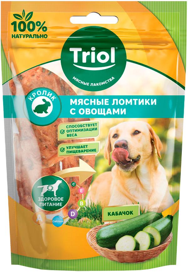 Лакомство Triol для собак ломтики мясные с кроликом и кабачком 70 гр (1 шт)