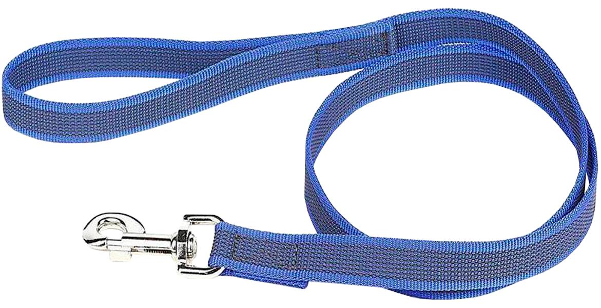Поводок для собак до 50 кг Julius-K9 Color & Gray Super-grip с ручкой сине-серый 20 мм 120 см (1 шт)