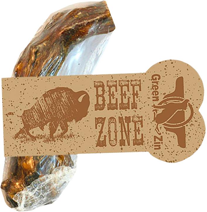 Лакомство Green Qzin Beef Zone для собак всех пород хвост говяжий сушеный 6 дюймов (1 шт)