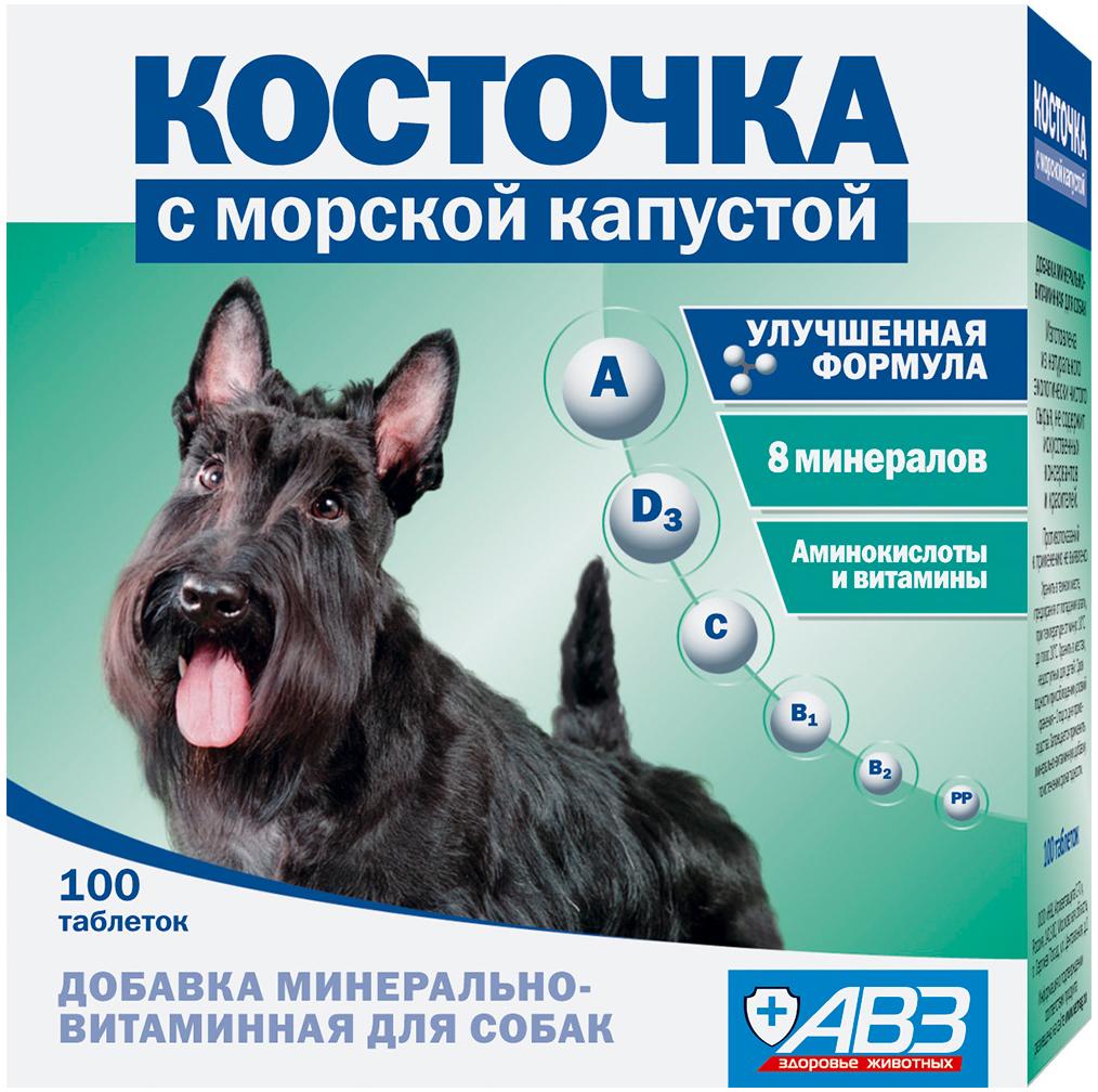 косточка морская капуста минерально-витаминная добавка для собак (100 таблеток)
