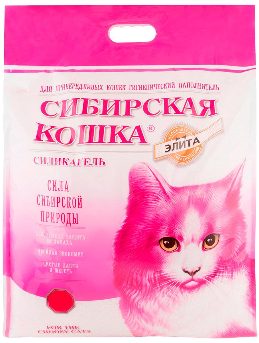 сибирская кошка элитный наполнитель силикагелевый для привередливых кошек (8 + 8 л)