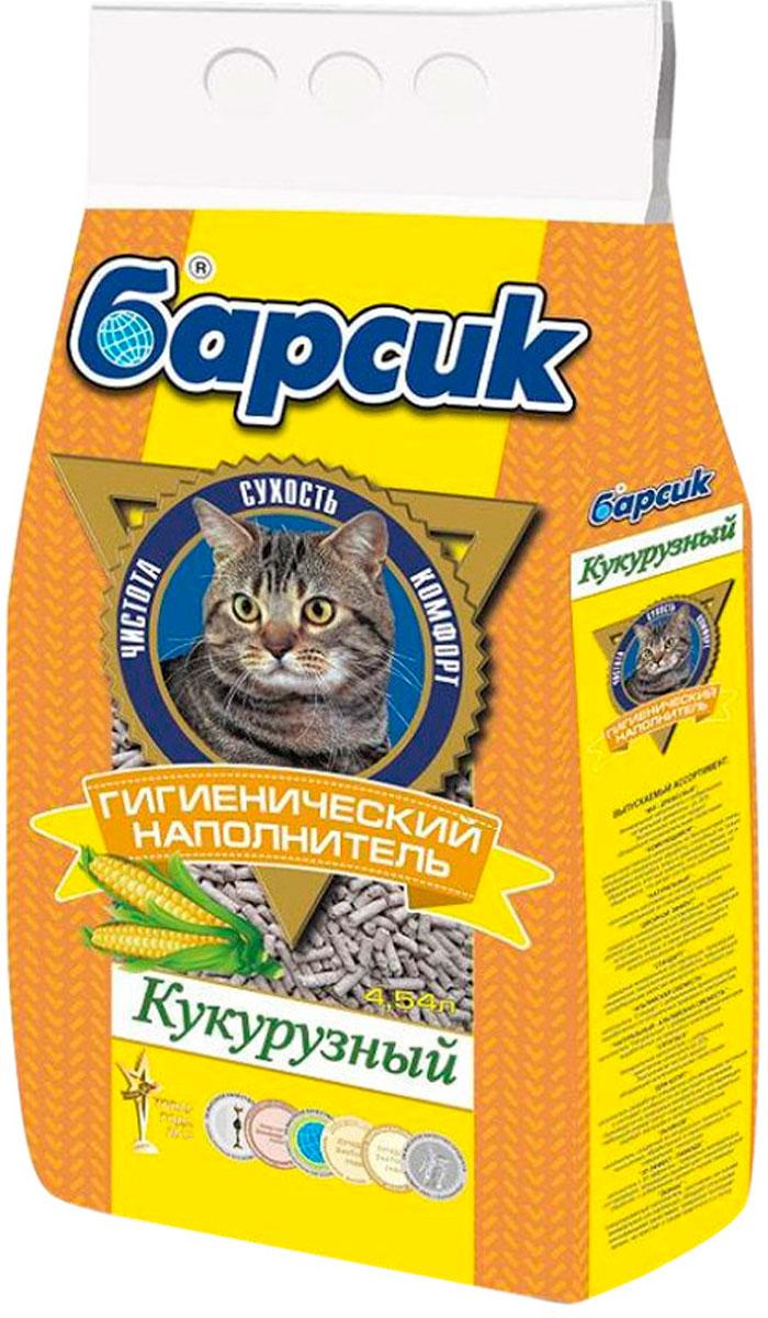 Фото - барсик кукурузный – наполнитель кукурузный для туалета кошек (4,54 л) впитывающий наполнитель барсик эконом 4 54 л
