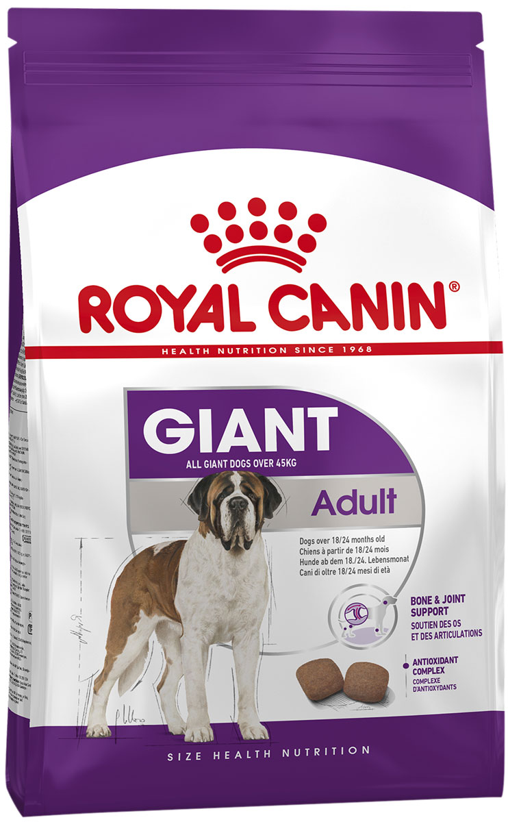 Royal Canin Giant Adult для взрослых собак крупных пород (15 кг + 3 кг)