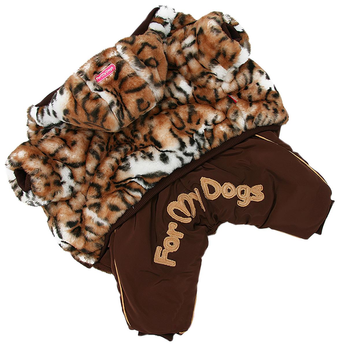For My Dogs комбинезон-шубка для собак коричневый для девочек Fw927-2020 F (12Chh)