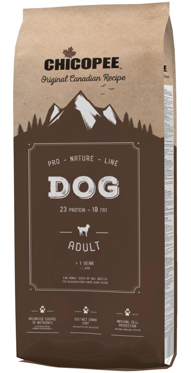 Фото - Chicopee Pro Nature Line Adult для взрослых собак всех пород с птицей (20 + 20 кг) chicopee pro nature line adult maxi для взрослых собак крупных пород с птицей 20 кг