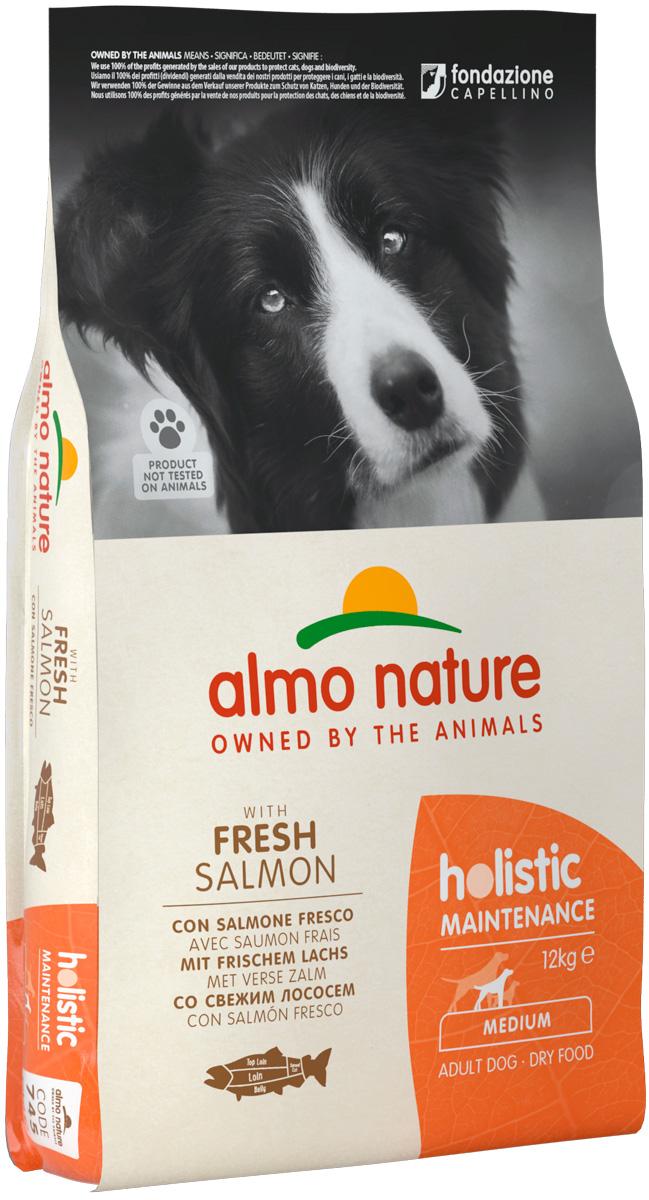 Almo Nature Adult Dog Medium & Salmon для взрослых собак средних пород с лососем (2 кг) фото