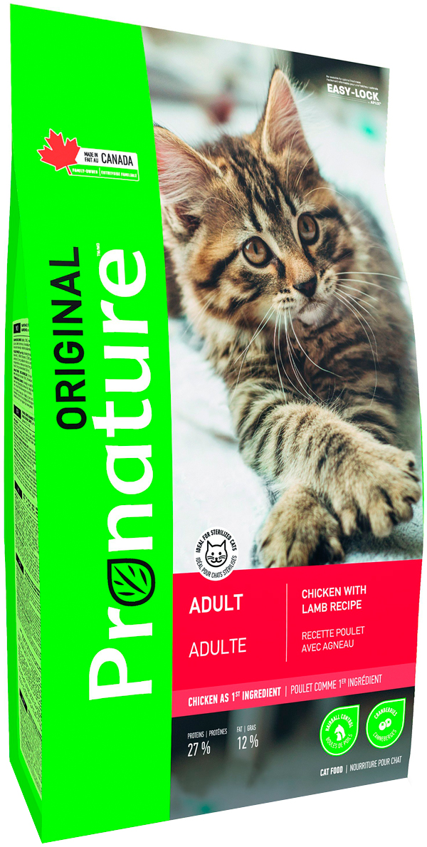 Pronature Original Cat Adult для взрослых кошек с курицей и ягненком (20 кг)