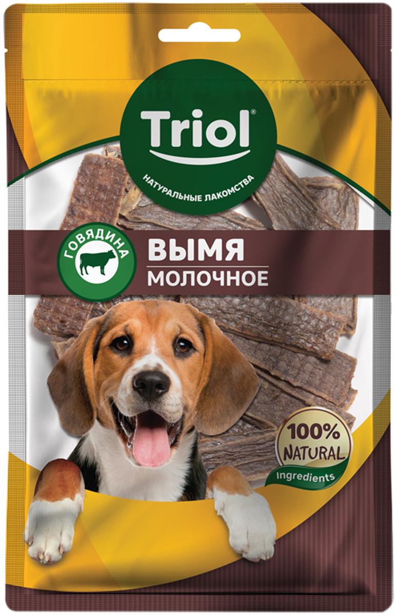 Лакомство Triol для собак вымя говяжье молочное 50 гр (1 шт)