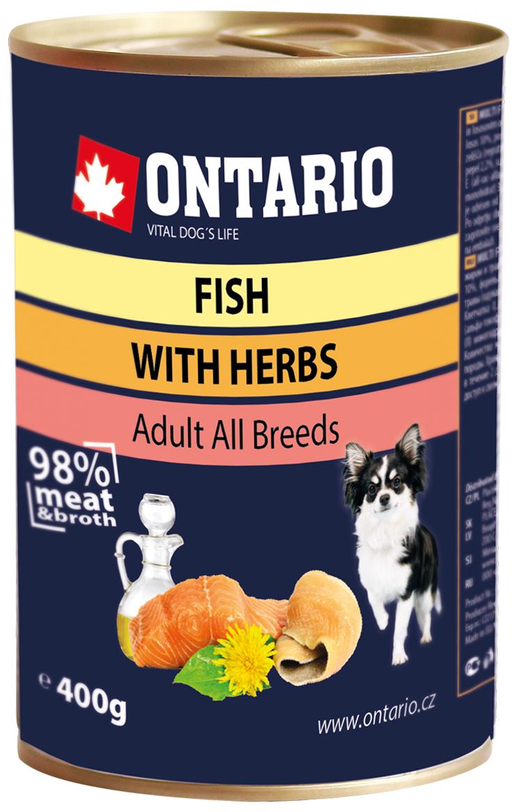 Ontario для взрослых собак рыбное ассорти (200 гр х 6 шт) фото