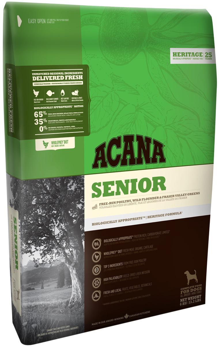 Acana Senior Dog для пожилых собак всех пород старше 7 лет (2 + 2 кг)