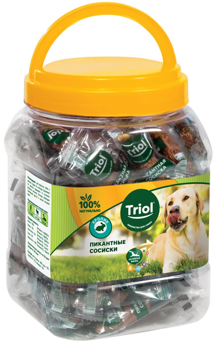 Лакомство Triol для собак сосиски пикантные с кроликом 500 гр (1 шт)