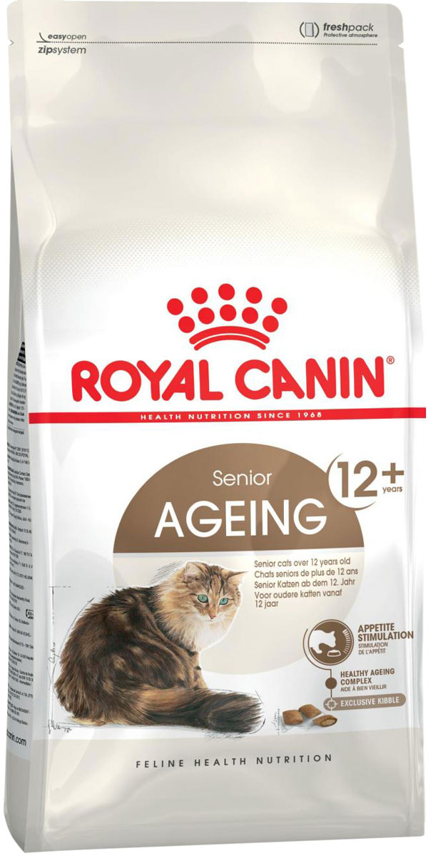Royal Canin Ageing 12+ для пожилых кошек старше 12 лет (4 + 4 кг)