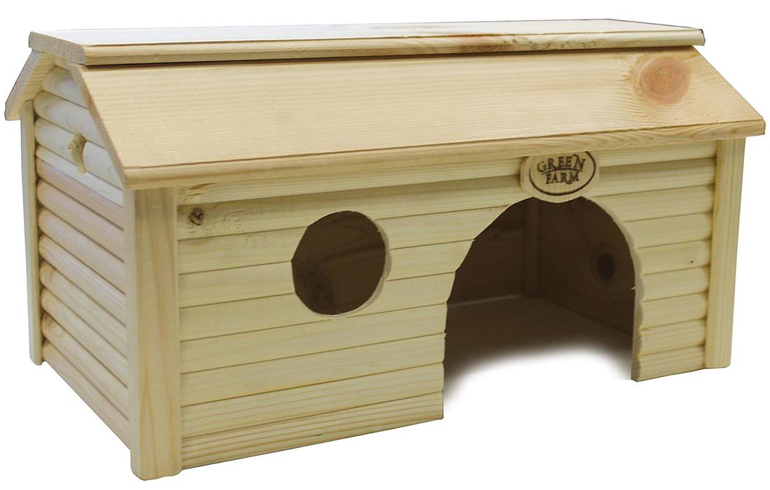Green Farm дом-баня для мелких грызунов, дерево (1 шт)
