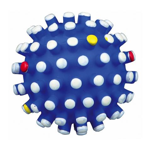 Trixie игрушка для собак «Мяч игольчатый», с пищалкой (6,5 см)