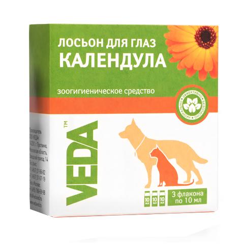 Фитоэлита лосьон для глаз для кошек и собак «Календула» Veda (10 мл)