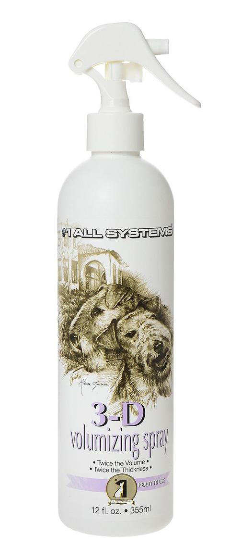 #1 All Systems 3d Volumizing спрей для увеличения объема шерсти для собак и кошек (355 мл)