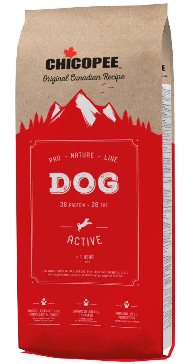 Фото - Chicopee Pro Nature Line Adult Active для активных взрослых собак всех пород (20 кг) chicopee pro nature line adult maxi для взрослых собак крупных пород с птицей 20 кг