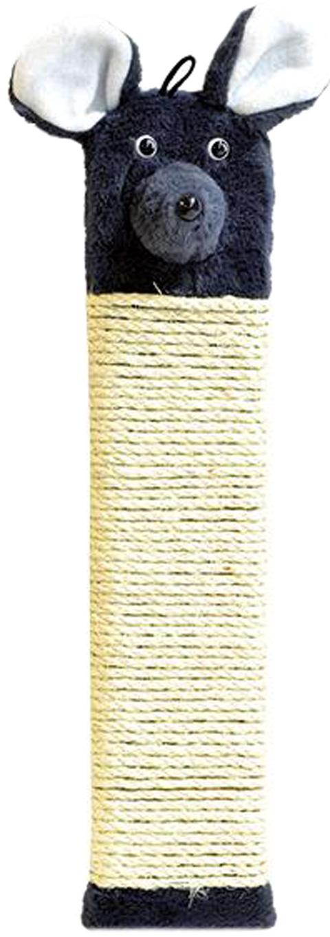 Когтеточка Мышь Зооник сизаль серая 51 х 11 х 2 см (1 шт) фото