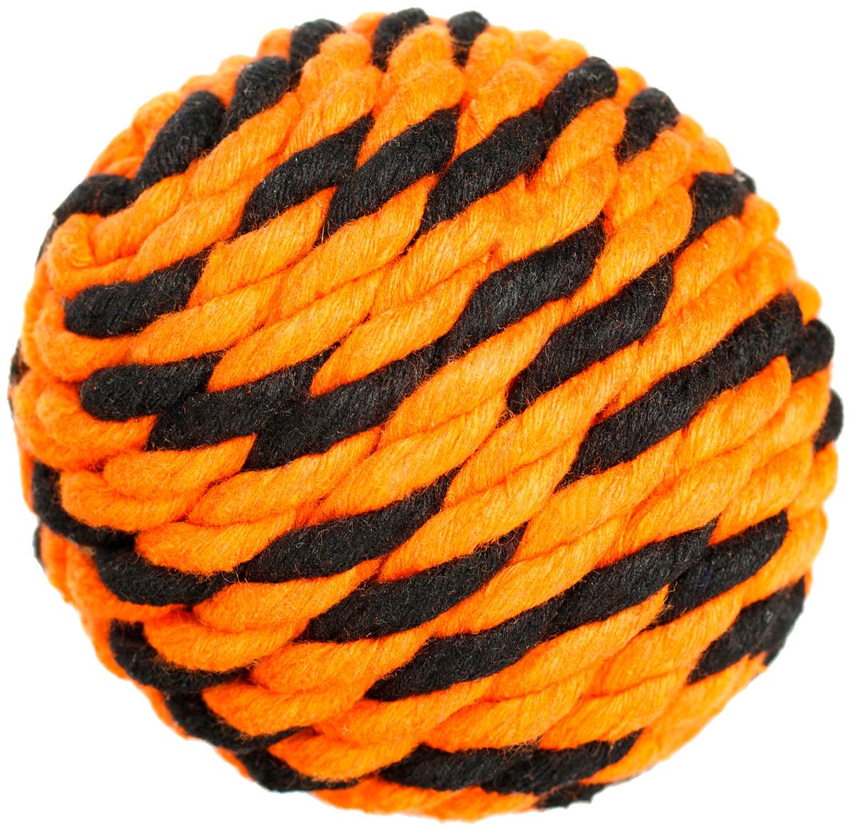 Мяч для собак Doglike Броник оранжевый/черный средний (1 шт)