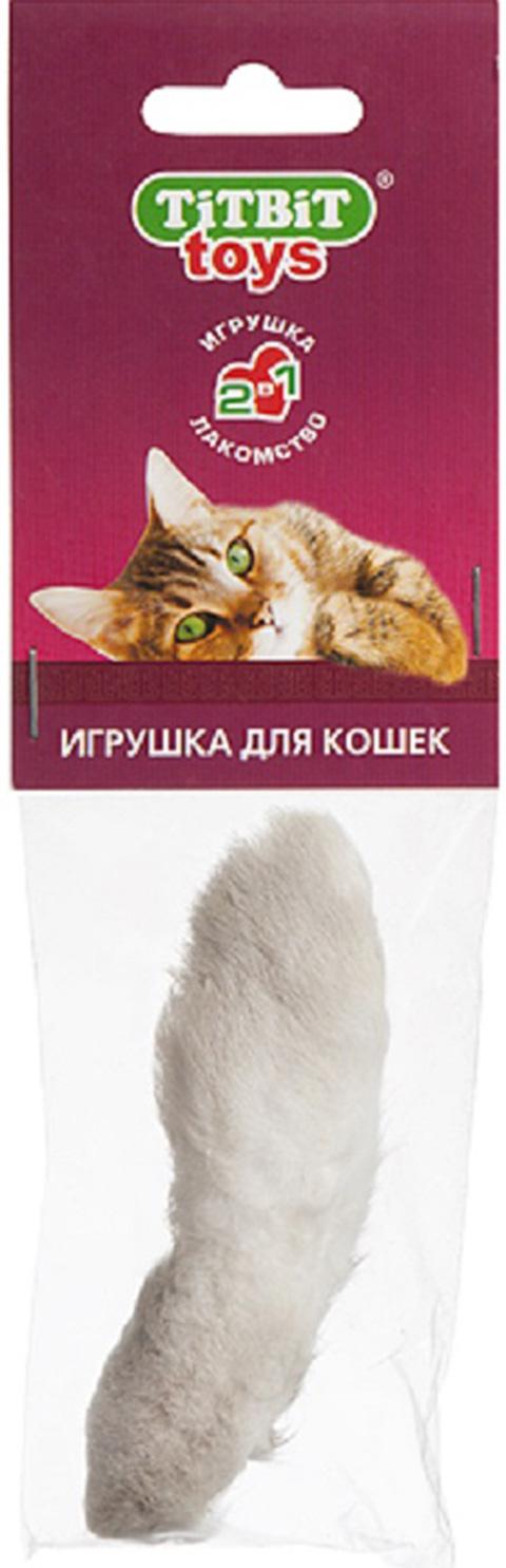 Игрушка для кошек Лапка пушистая Tit Bit (1 шт) лапка для настрачивания шнуров brother оригинал f020n