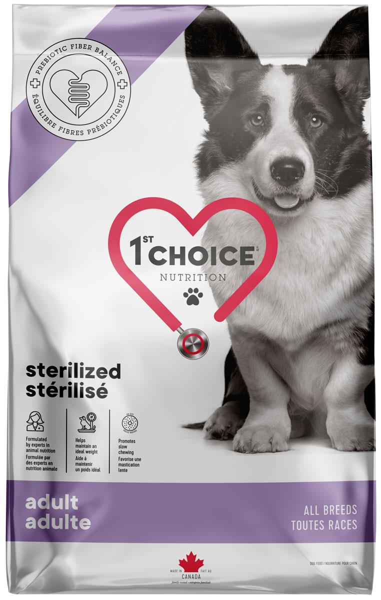 1st Choice Care Dog Adult All Breeds Sterilised для взрослых кастрированных и стерилизованных собак всех пород с курицей (3,2 кг)