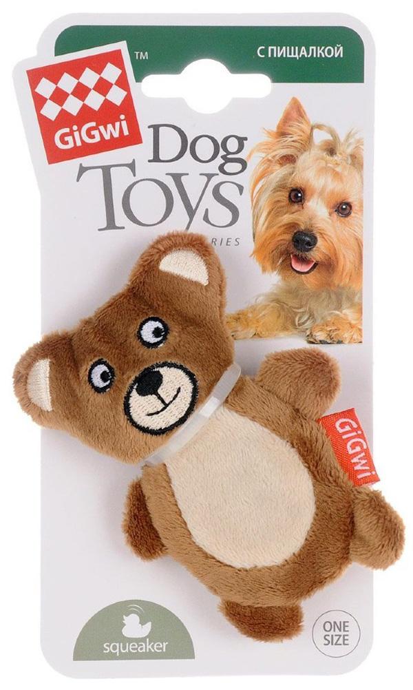 Игрушка для собак GiGwi Мишка с пищалкой 10 см (1 шт)