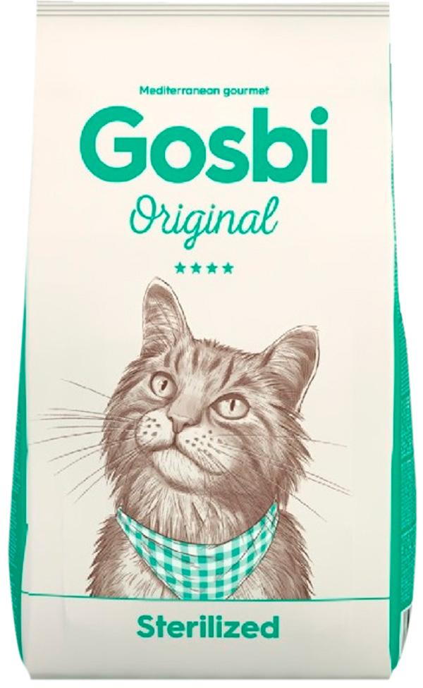 Gosbi Original Cat Sterilized для взрослых кастрированных котов и стерилизованных кошек с курицей (1 кг)