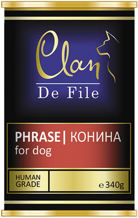 Clan De File монобелковые для взрослых собак с кониной 340 гр (340 гр х 12 шт)
