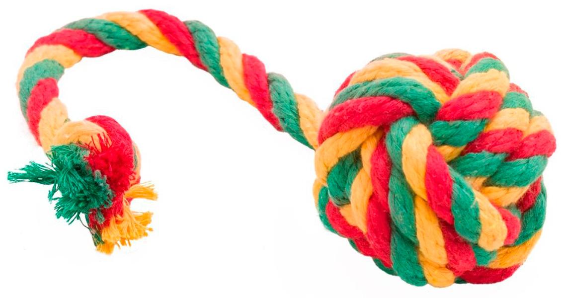 Мяч для собак Doglike Dental Knot канатный цветной большой (1 шт)
