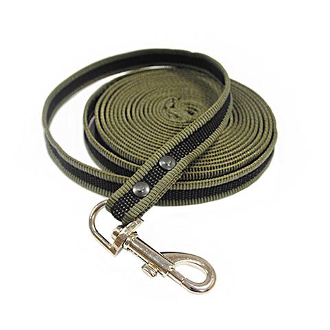 Фото - Поводок брезентовый для собак 18 мм 3 м Homepet (1 шт) поводок для собак homepet простроченный 52108 черный 1 2 м 8 мм