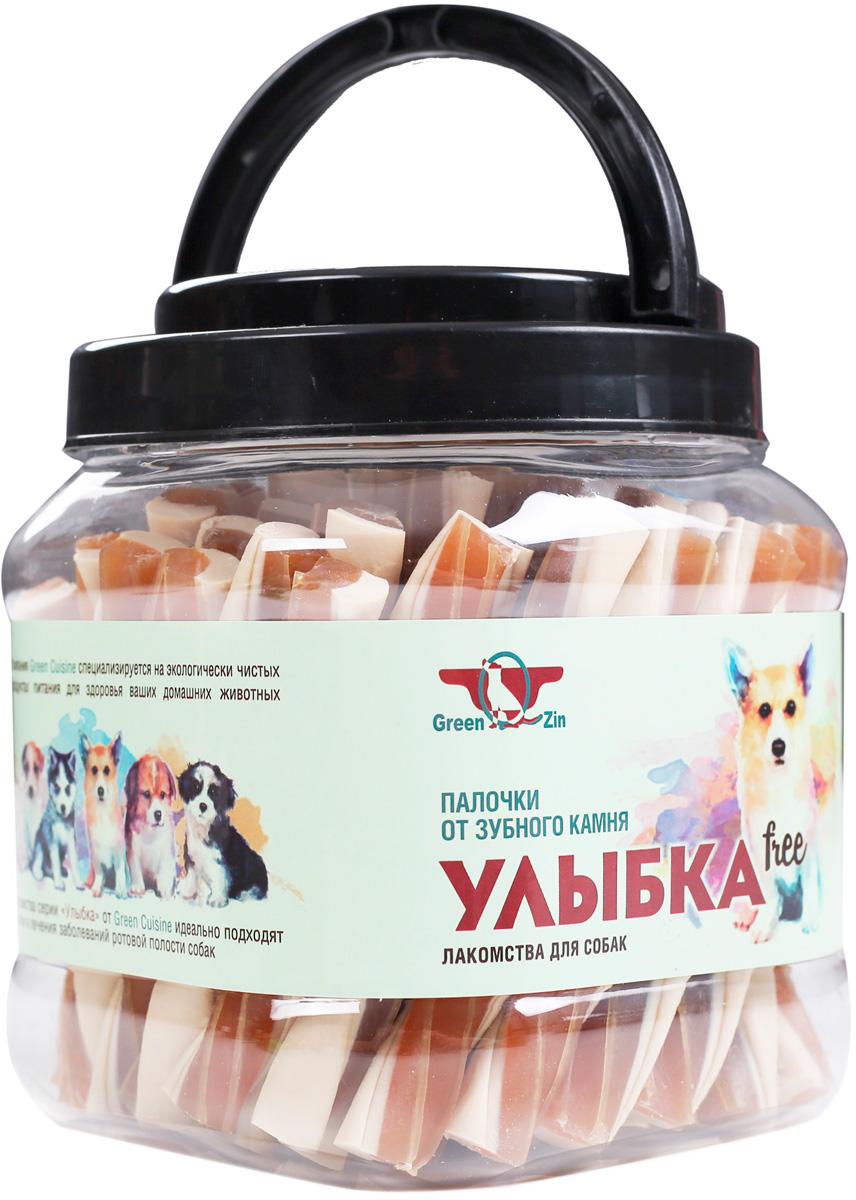 Лакомство Green Qzin Улыбка Free для собак всех пород мягкие жевательные палочки от зубного камня 1012 гр (1 шт)