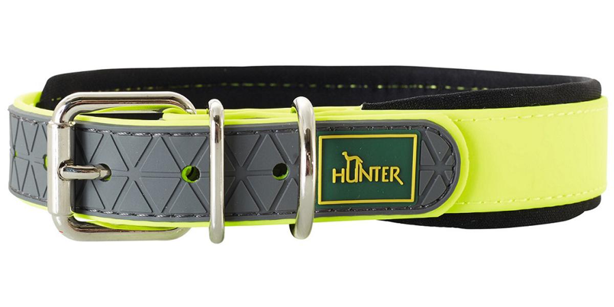 Ошейник для собак Hunter Convenience Comfort 60 биотан мягкая горловина желтый неон 25 мм 47 – 55 см (1 шт)
