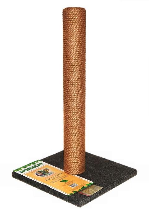 Homecat когтеточка-столбик с кошачьей мятой серая 29,5 х 29,5 х 50 см (1 шт)