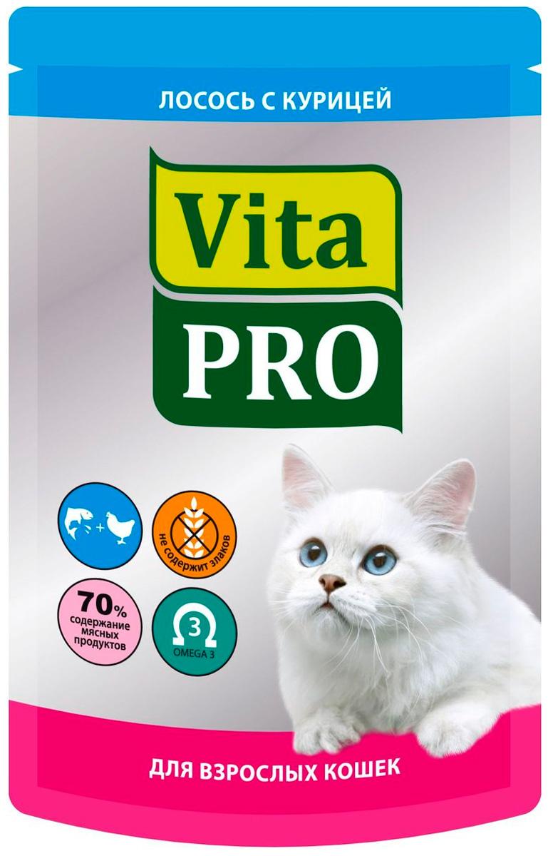Vita Pro для взрослых кошек с курицей и лососем 100 гр (100 гр)