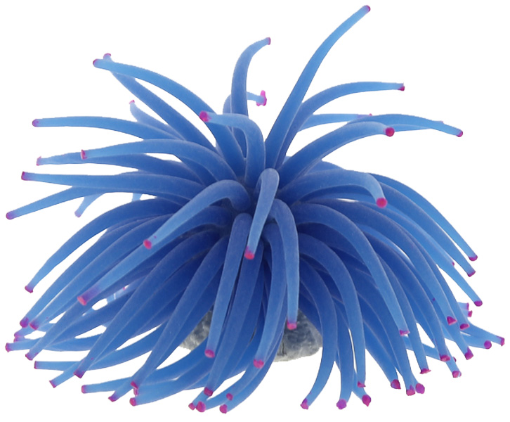 Декор для аквариума Коралл силиконовый Vitality на керамической основе синий 13 х 13 х 10 см Rt172lb (1 шт)