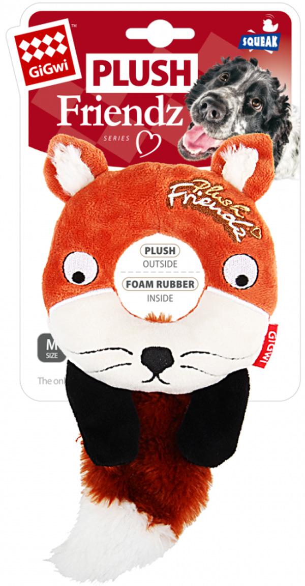 Игрушка для собак GiGwi Plush Friendz Лиса с пищалкой 19 см (1 шт)