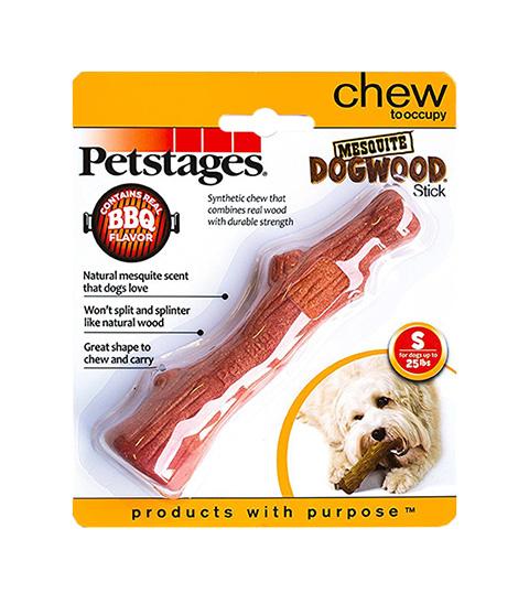 Petstages игрушка для собак Mesquite Dogwood с ароматом барбекю маленькая 16 см (1 шт)